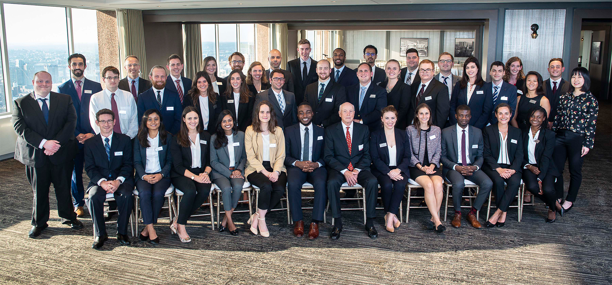 MBA first-year students at the Keys to Success dinner on 8/29/18